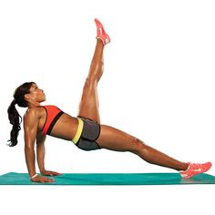 You don't need any equipment for this calorie-blaster. Try the V-Sit Kick Combo next time you're tight on space. #fitnessmagazine