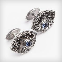 Steampunk Blue cufflinks http://evanaumova.ru/element-blue-cufflinks