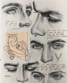 Cool Art Drawings, Pencil Art Drawings, Art Drawings Sketches, Portrait Sketches, Realistic Drawings, Sketch Art, Sketch Design, Drawing Ideas, Design Design