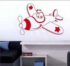 funny plane wall sticker