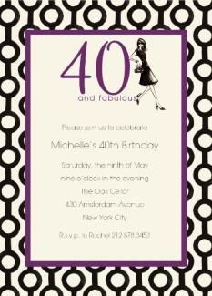 Get 40th PARTY INVITATIONS Card