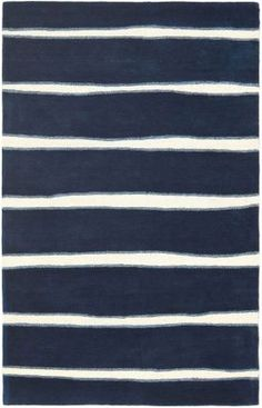 Safavieh Martha Stewart Chalk Stripe Navy Rug - good price for 10x14