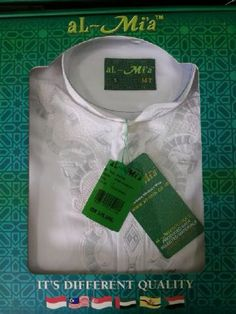SERI : 150.000 ECER : 160.000 Baju koko lengan panjang merek Al Mia Original Bahan madina Ukuran S, L, XL