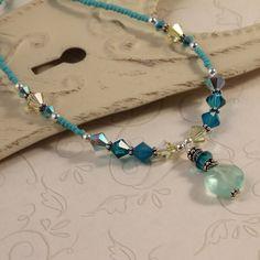 Swarovski Crystal Gemstone Necklace Sparkly by symphonyjewels