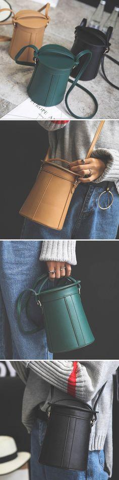 Women Leather Crossbody Bag /Cute Bucket Bag #fashion #style