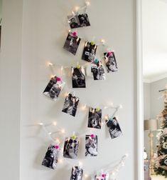 DIY Family photo Christmas tree // Családi fotó karácsonyfa fényfüzérrel egyszerűen // Mindy - craft tutorial collection // #crafts #DIY #craftTutorial #tutorial #ChristmasCrafts #Christmas #Karácsony