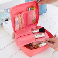 Multifunction Square Nylon Travel Wash Cosmetic Bag Makeup Storage Bag  Makeup Storage Bag 8604bc18fb00a