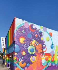 02f0369c85e Plaza Midwood's new rainbow-colored landmark. Color Inspiration, Street Art,  Rainbow,