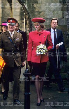 Princess Diana visiting Winchester 1989