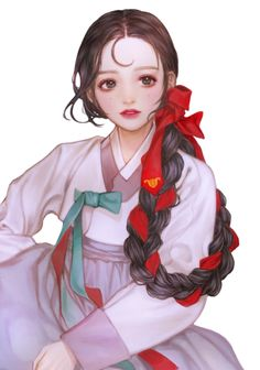 Korean Illustration, Illustration Art, Korean Art, Asian Art, Anime Art Girl, Manga Art, Pretty Art, Cute Art, Korean Painting