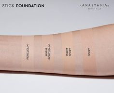 WEBSTA @ anastasiabeverlyhills - Fair ABH foundations - Focus on undertones… Makeup Inspo, Makeup Ideas, Abh, Contouring And Highlighting, War Paint, Anastasia Beverly Hills, Face And Body, Swatch