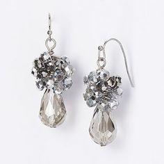 Simply Vera Vera Wang Two Tone Bead Cluster Drop Earrings