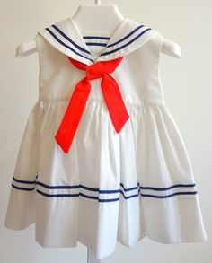 Vintage Sleeveless Classic White Sailor Dresses by breedbabynyc, $27.50