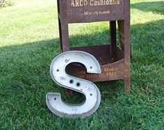 O Reclaimed Metal White Black Sign Channel Letter Great Gift