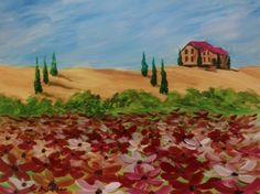 "#Acrylics ""Tuscan Poppies"""