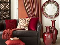 Brown and red living room ideas red and brown living room decor red brown. Living Room Decor Brown Couch, Living Room Red, Living Room Paint, Living Room Colors, Living Room Designs, Living Room Ideas Red And Brown, Bedroom Colors, Bedroom Ideas, Brown Livingroom Ideas