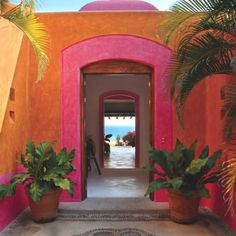 Las Alamandas Romantic Boutique Hotel, Mexico - love the colors and architecture! Mexican Colors, Mexican Style, Ibiza Strand, Design Hotel, House Design, Outdoor Spaces, Outdoor Living, Outdoor Tiles, Riad Marrakech
