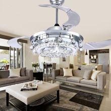 LED Fan Crystal Chandelier Dining Room Living Room Fan Droplights Modern Wall/Remote Control Crystal Chandelier Lights(China (Mainland))