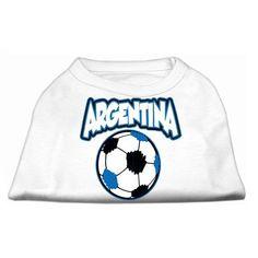 Argentina Soccer Print Dog Tank - White