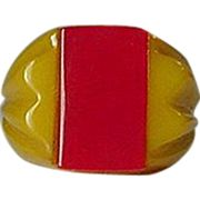Vintage Art Deco Bakelite Ring