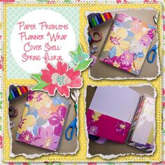 Planner wrap covers & more for Erin Condren, Plum paper, inkwell press, limelife, simplified life, arc, mambi happy planner & more. Visit my Etsy listing at https://www.etsy.com/listing/230177766/clearance-spring-floral-wrap-planner