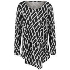SHARE & Get it FREE | Geometric Print Plus Size Tunic T-ShirtFor Fashion Lovers only:80,000+ Items·FREE SHIPPING Join Dresslily: Get YOUR $50 NOW!