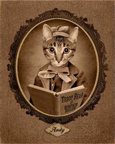 Image Vintage personnalisée de votre Pet animal par HotDigitalDog