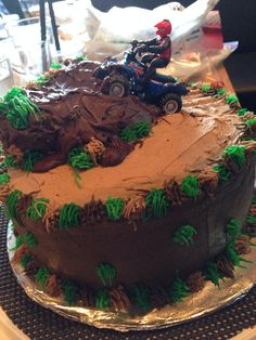 Made This Cake For My Husband Birthday Manley ATV Four Wheeling