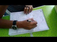 Pattern landscape - mix-media. Oil pastels and colour pencils - YouTube