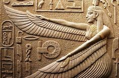 Immagine di ancient, goddess, and egypt Ancient Aliens, Ancient Egypt Art, Ancient Artifacts, Ancient History, Ancient Greece, Egyptian Mythology, Egyptian Goddess, Egyptian Art, Maat Goddess
