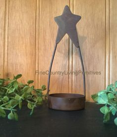 Primitive Country Farmhouse Rusty Hanging Tea Light Holder Christmas Ornament  #NaivePrimitive