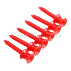 Wholesale 100Pcs Red Plastic Step Down Golf Tees Graduated Castle Tee Height Control 41mm Golf Training Aids Golf Club Ball Tees