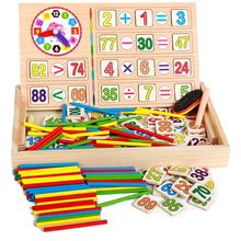 New Arrival Baby Toys Count Sticks Math Wooden Toys Digital Operation Box Educational Blocks Drawing Toy Child Birthday Gift(China (Mainland))