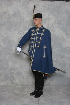 Sokolska garda, Osijek. Croatian traditional men's military uniforms