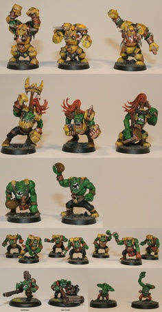 Orc blood bowl team... in Mustard Color Armor