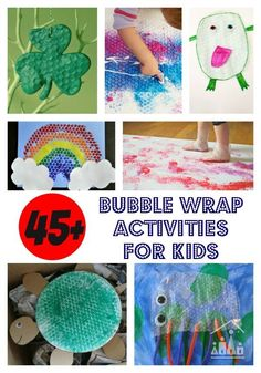 Never throw Bubble Wrap away again. You will be too busy trying out these brilliant bubble wrap projects for kids with it. Our favorite frugal junk material for making awesome kids crafts.