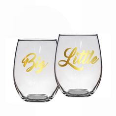 One Big Little Wine Glass - Sorority Wine Glass - Big Lil Gift - Sorority Gift - Sorority Sisters - Bid Day Gift - Sorority SIster Gift by BlueKitty2000 on Etsy