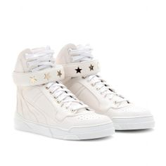 LEATHER HIGH-TOP SNEAKERS - GIVENCHY