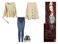 """""""Hermione Granger"""" by ilovecats-886 ❤ liked on Polyvore featuring Converse and J Brand"""