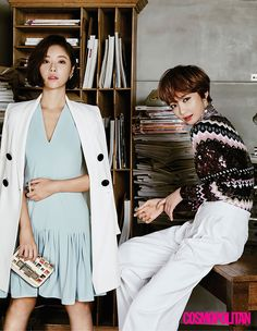 "The cast of new drama ""She Was Pretty"" Hwang Jung Eum, Park Seo Joon, Go Joon Hee, and Choi Siwon for Cosmopolitan Korea Korean Actresses, Korean Actors, She Was Pretty Kdrama, Kpop, Go Jun Hee, Sung Joon, Hwang Jung Eum, Moorim School, Park Seo Joon"