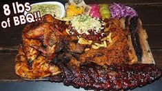 Massive English BBQ Challenge w/ Ribs, Chicken, & Burnt Ends! - The Best Chicken Recipes Restaurant Recipes, Dinner Recipes, Chilli Cheese Fries, Burnt Ends, Indian Food Recipes, Ethnic Recipes, Bbq Meat, Food Challenge
