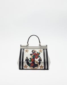 1031d0e2d64f SMALL SICILY BAG IN DAUPHINE LEATHER WITH APPLICATIONS - Dolce   Gabbana  Sport Sandals