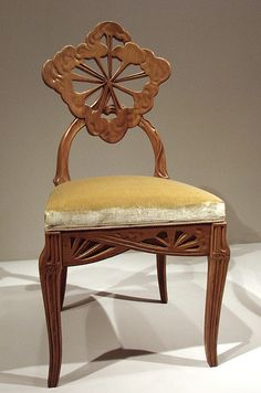 Emile Galle -- Is there anything Galle couldn't or didn't do? I love this quirky dining chair.