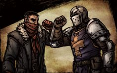 On the old road, we found redemption (Dismas and Reynauld from Darkest Dungeon) by shaydh