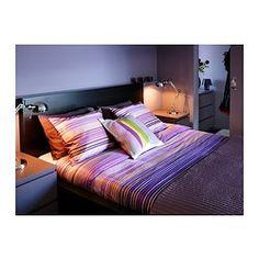 MALM Estrutura de cama, alta, preto-castanho, Leirsund - 140x200 cm - Leirsund - IKEA