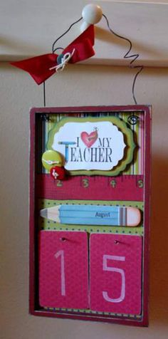 Splitcoaststampers - Tutorials-calendar -could be made with heavy gage card stock as well