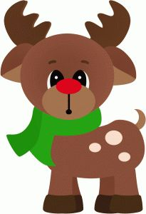 Silhouette Online Store - View Design #48446: rudy the reindeer standing christmas