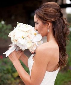 Half Up Half Down Long Wedding Hairstyles 2015