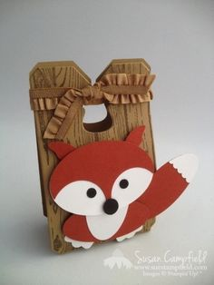Stampin' Up! Punch Art: It's a Fox on a Box!