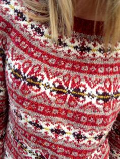 Red Fair Isle sweater